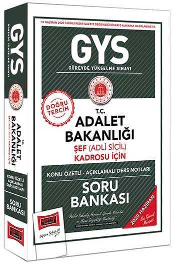 Yargı Yayınları GYS T.C. Adalet Bakanlığı Şef (Adli Sicil) Kadrosu İçin Konu Özetli Soru Bankası