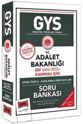 Yargı Yayınları - Yargı Yayınları GYS T.C. Adalet Bakanlığı Şef (Adli Sicil) Kadrosu İçin Konu Özetli Soru Bankası