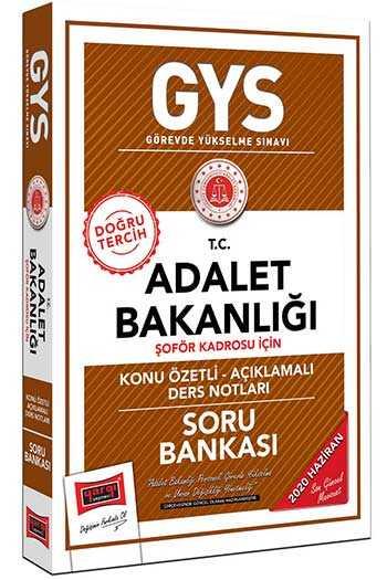 Yargı Yayınları GYS T.C. Adalet Bakanlığı Şoför Kadrosu İçin Konu Özetli Soru Bankası