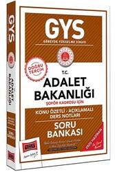 Yargı Yayınları - Yargı Yayınları GYS T.C. Adalet Bakanlığı Şoför Kadrosu İçin Konu Özetli Soru Bankası