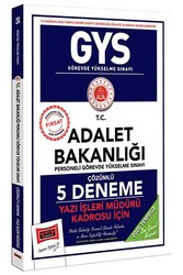 Yargı Yayınları - Yargı Yayınları GYS T.C. Adalet Bakanlığı Yazı İşleri Müdürü Kadrosu İçin Çözümlü 5 Deneme