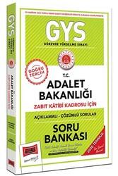 Yargı Yayınları - Yargı Yayınları GYS T.C. Adalet Bakanlığı Zabıt Katibi Kadrosu İçin Açıklamalı Soru Bankası