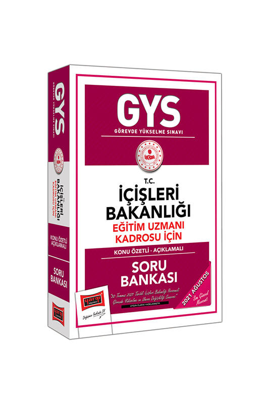 Yargı Yayınları GYS T.C İçişleri Bakanlığı Eğitim Uzmanı Kadrosu İçin Konu Özetli Soru Bankası