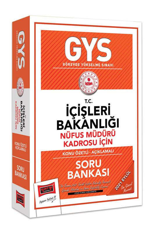 Yargı Yayınları GYS T.C İçişleri Bakanlığı Nüfus Müdürü Kadrosu İçin Konu Özetli Açıklamalı Soru Bankası