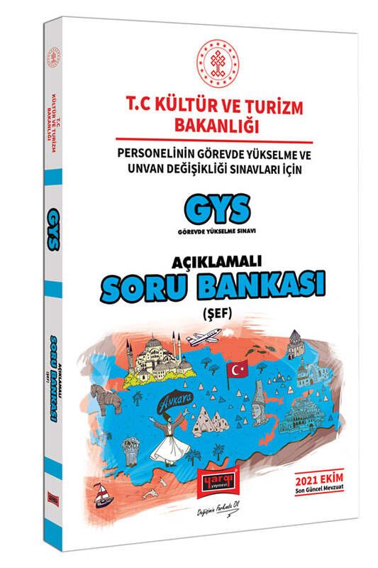 Yargı Yayınları GYS T.C Kültür ve Turizm Bakanlığı Personelinin Görevde Yükselme ve Unvan Değişikliği Sınavları İçin Şef Açıklamalı Soru Bankası
