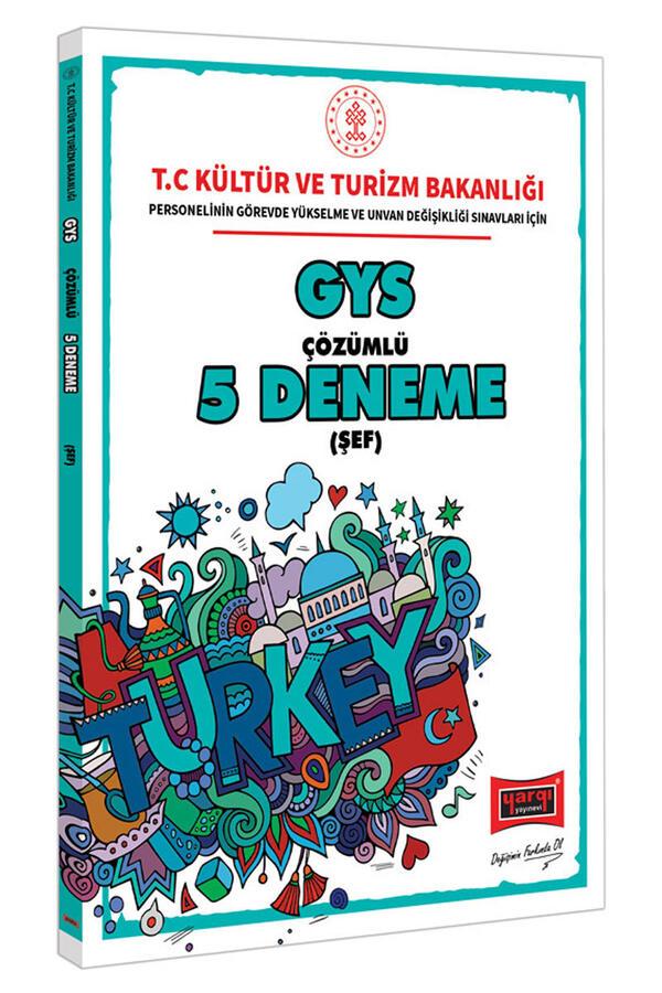 Yargı Yayınları GYS T.C. Kültür ve Turizm Bakanlığı Şef İçin Çözümlü 5 Deneme