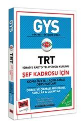 Yargı Yayınları - Yargı Yayınları GYS TRT Şef Kadrosu İçin Konu Özetli Çıkmış ve Çıkması Muhtemel Sorular