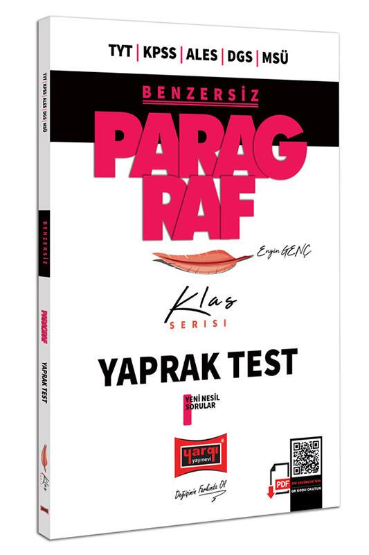 Yargı Yayınları TYT KPSS ALES DGS MSÜ Benzersiz Paragraf Klas Serisi Tamamı Çözümlü Yaprak Test