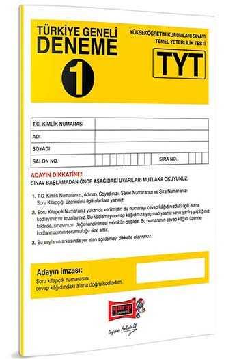 Yargı Yayınları TYT Türkiye Geneli Deneme 1