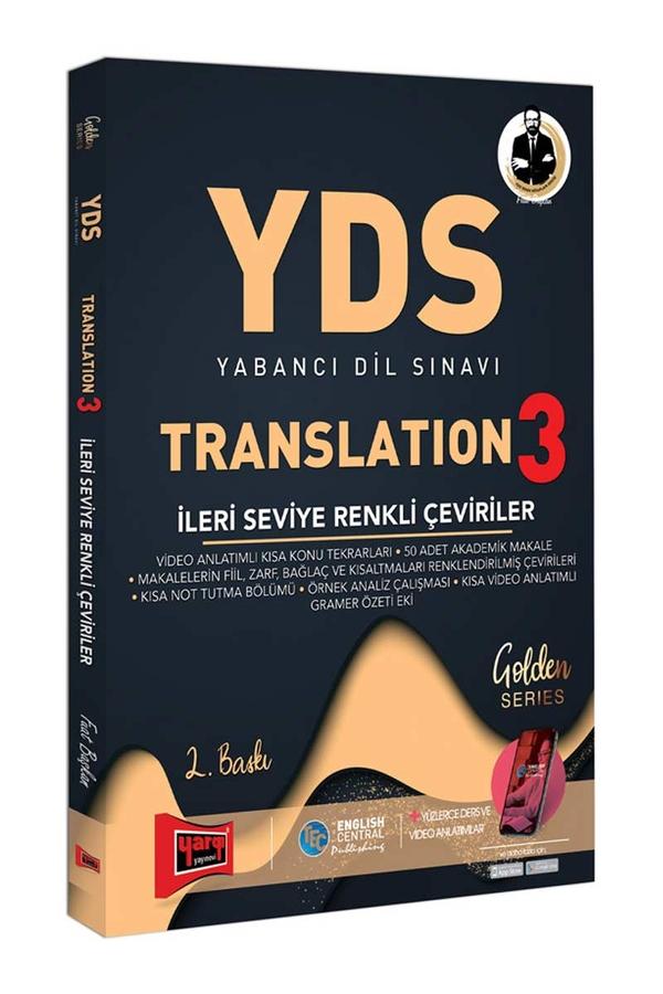 Yargı Yayınları YDS Translation 3 İleri Seviye Renkli Çeviriler 2. Baskı