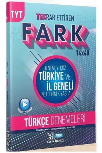 Yayın Denizi Yayınları TYT Türkçe Fark 14x40 Tekrar Ettiren Denemeleri