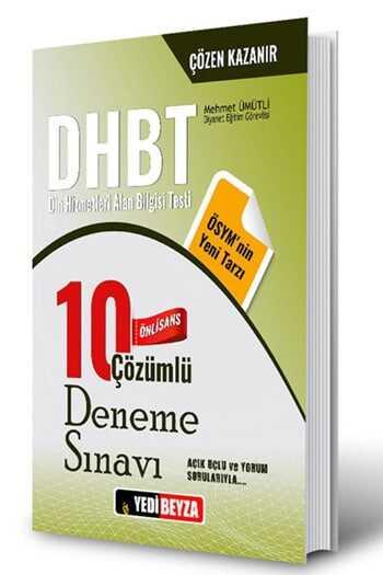 Yedibeyza Yayınları 2018 DHBT Ön Lisans Çözümlü 10 Deneme Sınavı