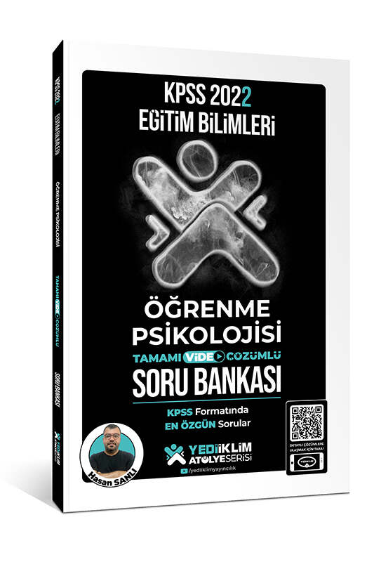 Yediiklim Yayınları 2022 KPSS Eğitim Bilimleri Atölye Serisi Öğrenme Psikolojisi Tamamı Video Çözümlü Soru Bankası