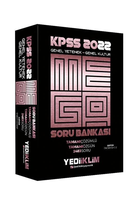 Yediiklim Yayınları 2022 KPSS Genel Yetenek Genel Kültür Mega Tamamı Çözümlü Soru Bankası