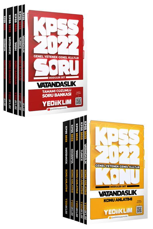 Yediiklim Yayınları 2022 KPSS Genel Yetenek Genel Kültür Modüler Konu ve Soru Seti