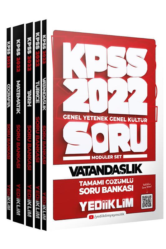 Yediiklim Yayınları 2022 KPSS GY GK Tamamı Çözümlü Modüler Soru Bankası
