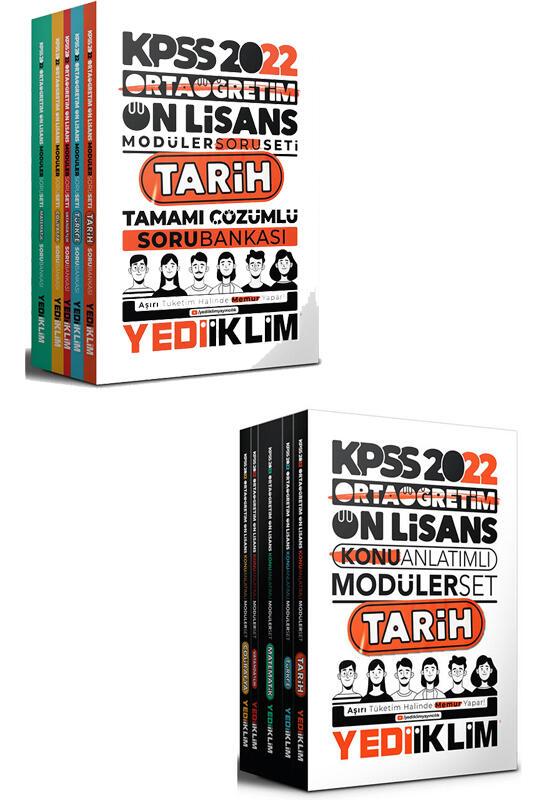 Yediiklim Yayınları 2022 KPSS Ortaöğretim Ön Lisans GY GK Modüler Konu ve Soru Seti