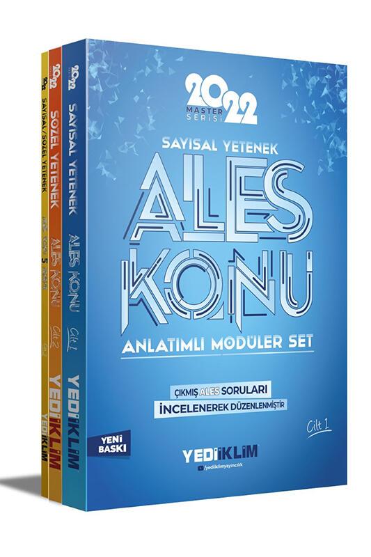 Yediiklim Yayınları 2022 Master Serisi Ales Konu Anlatımlı Modüler Set 3 Cilt