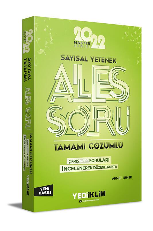 Yediiklim Yayınları 2022 Master Serisi Ales Sayısal Yetenek Tamamı Çözümlü Soru Bankası