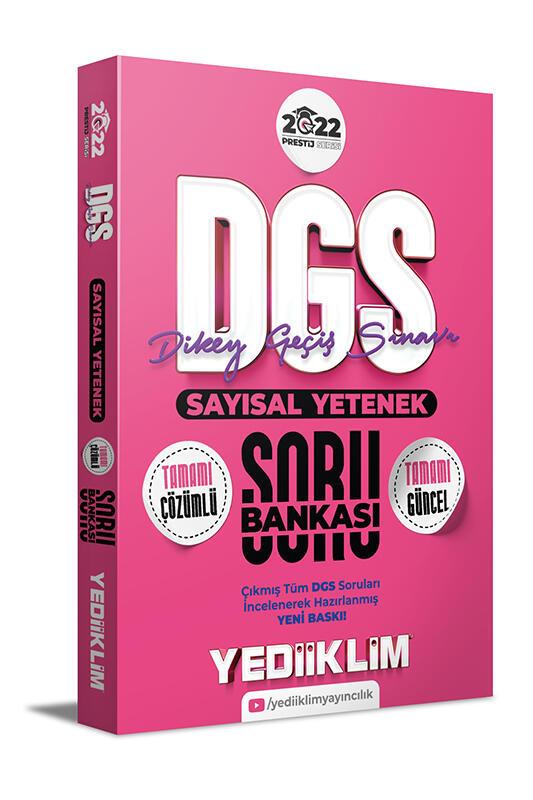 Yediiklim Yayınları 2022 Prestij Serisi DGS Sayısal Yetenek Tamamı Çözümlü Soru Bankası