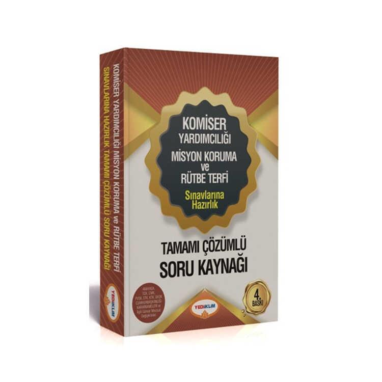 Yediiklim Yayınları Komiser Yardımcılığı Misyon Koruma ve Rütbe Terfi Sınavlarına Hazırlık Tamamı Çözümlü Soru Kaynağı