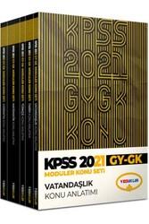 Yediiklim Yayınları - Yediiklim Yayınları KPSS 2021 Genel Yetenek Genel Kültür Konu Anlatımlı Modüler Set