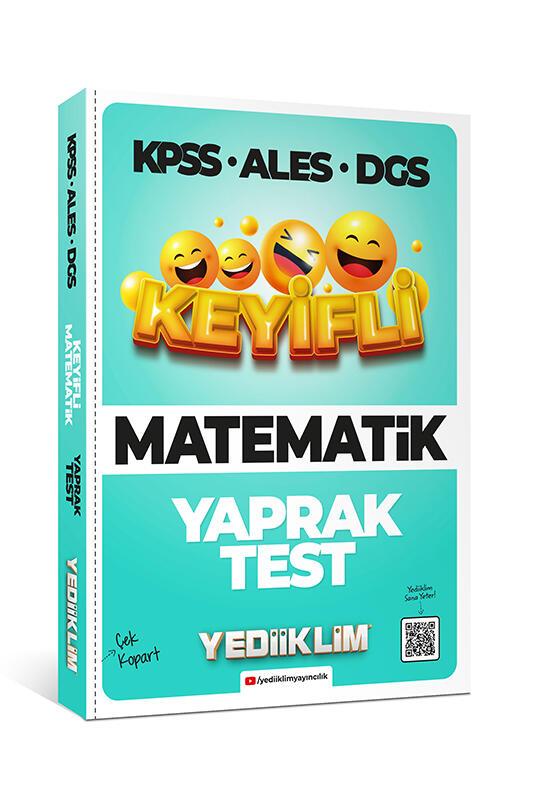 Yediiklim Yayınları KPSS ALES DGS Keyifli Matematik Tamamı Çözümlü Çek Kopart Yaprak Test