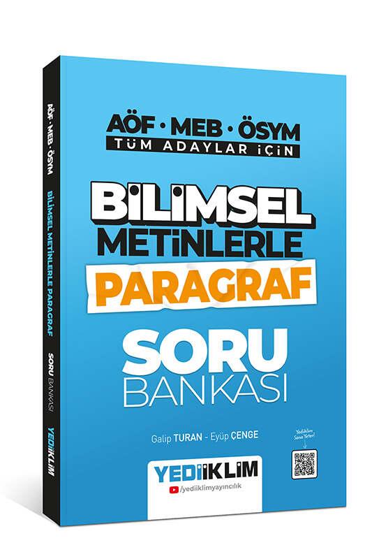 Yediiklim Yayınları Tüm Adaylar İçin Bilimsel Metinlerle Paragraf Soru Bankası