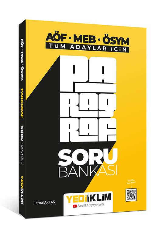 Yediiklim Yayınları Tüm Adaylar İçin Paragraf Soru Bankası