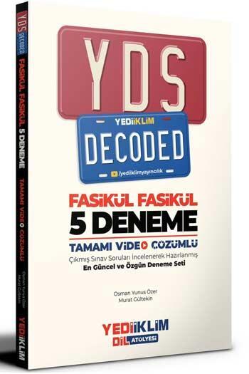 Yediiklim Yayınları YDS Decoded Tamamı Video Çözümlü 5 Fasikül Deneme