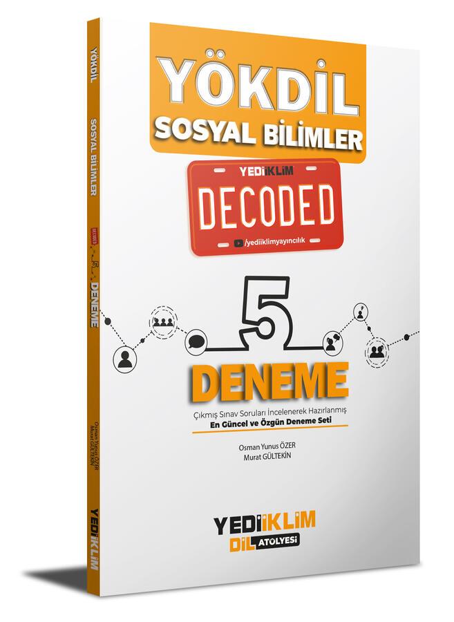Yediiklim Yayınları YÖKDİL Sosyal Bilimler Decoded 5 Deneme