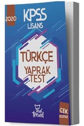 Yeni Trend Yayınları - Yeni Trend Yayınları 2020 KPSS Türkçe Yaprak Test