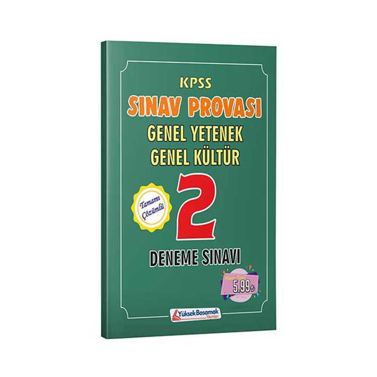 Yüksek Basamak Yayınları 2019 KPSS Genel Yetenek Genel Kültür Sınav Provası Çözümlü 2 Deneme Sınavı