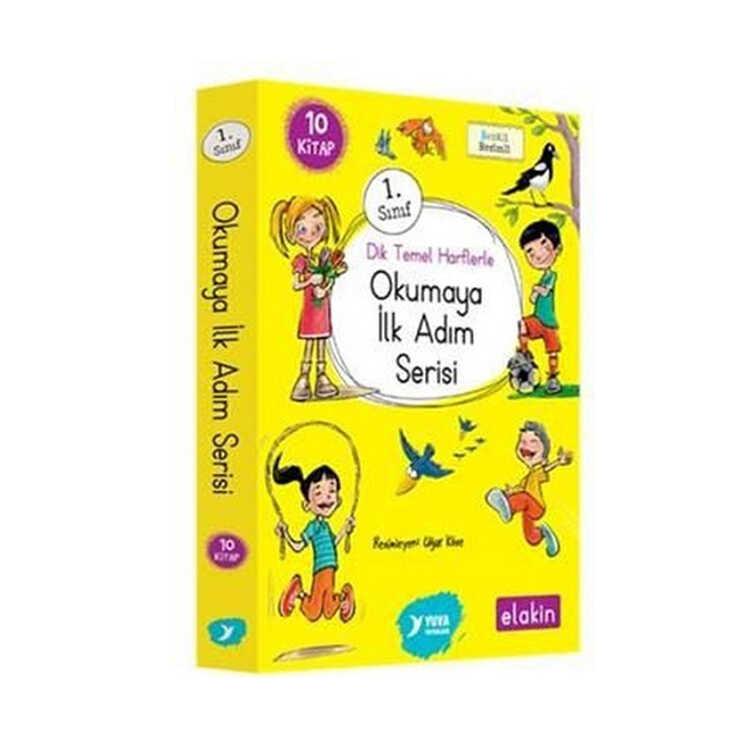 Yuva Yayınları 1. Sınıf Dik Temel Harflerle Okumaya İlk Adım Serisi Yeni Ses Grupları 10 Kitap